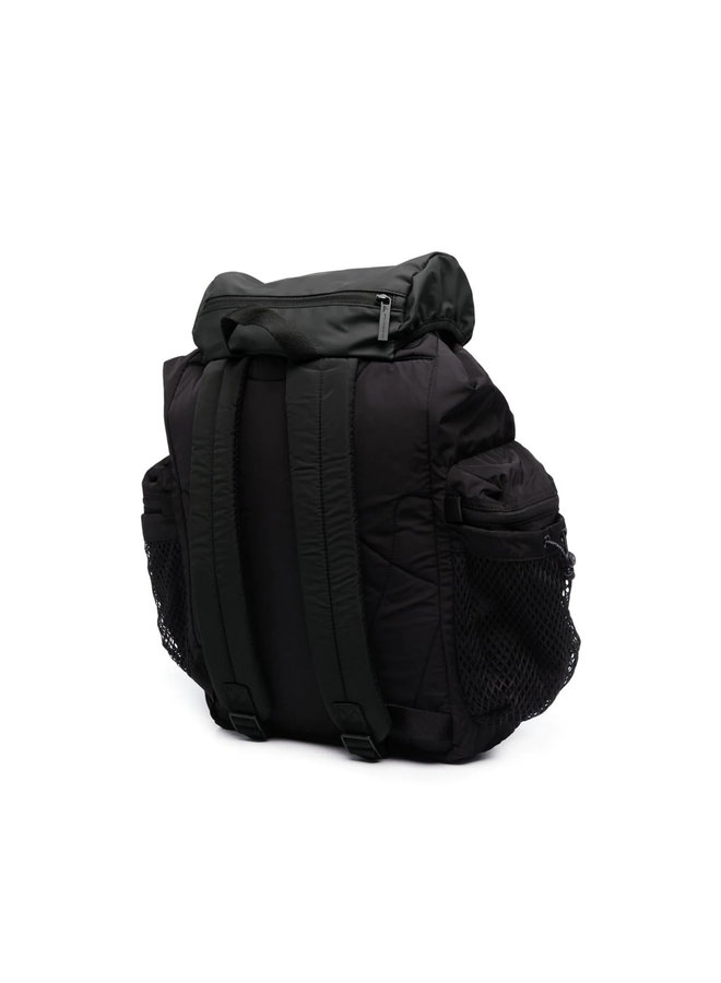 Logo Multi-pocket Backpack in Black