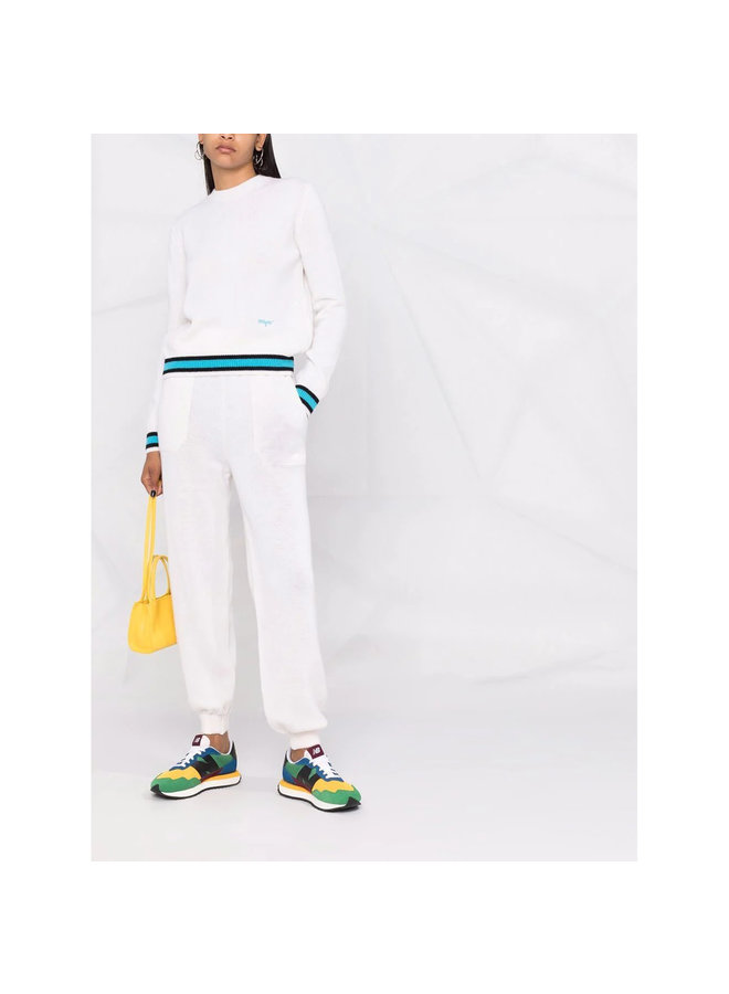 Knitted Jogging Pants in Off-White