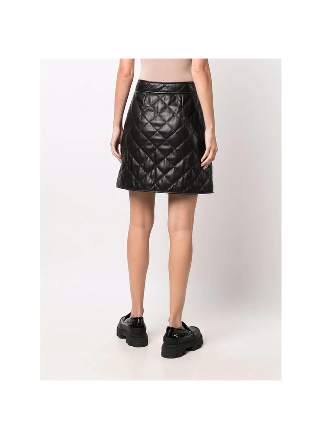 Quilted Mini Skirt in Black