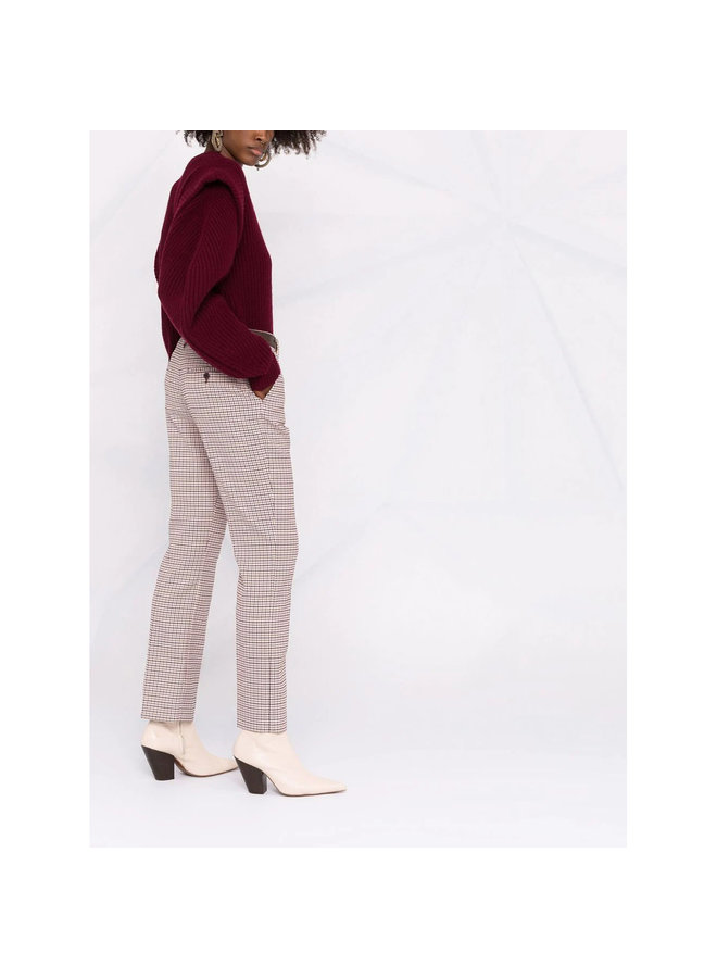 Checked Cropped Pants in Multi