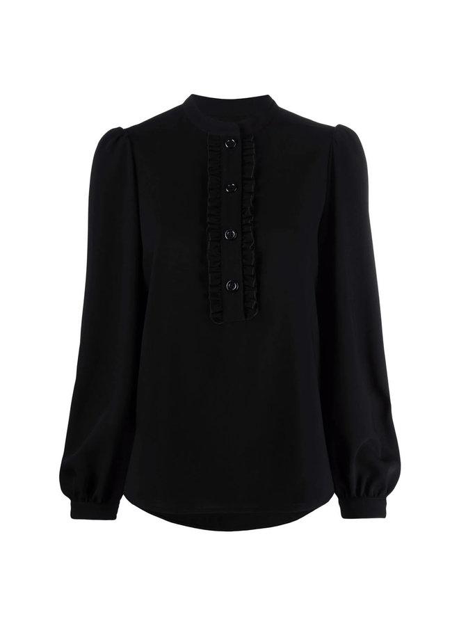 Long Sleeve Blouse in Black
