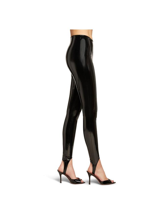 Stirrup Leggings in Black Vinyl