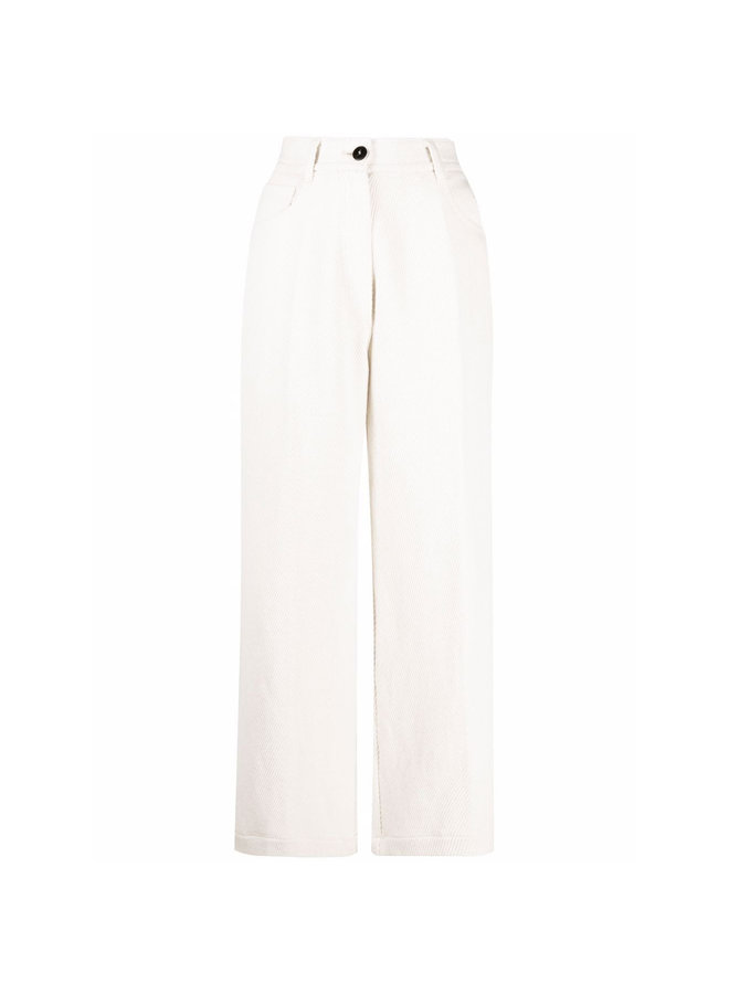 Wide Leg Flared Pants in White