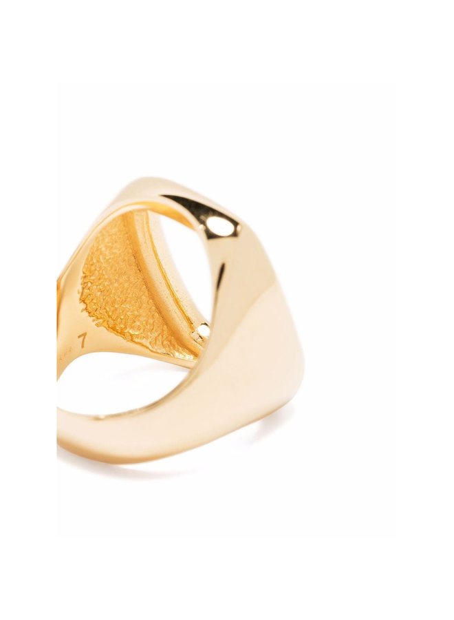 Large Toy Signet Ring in Gold