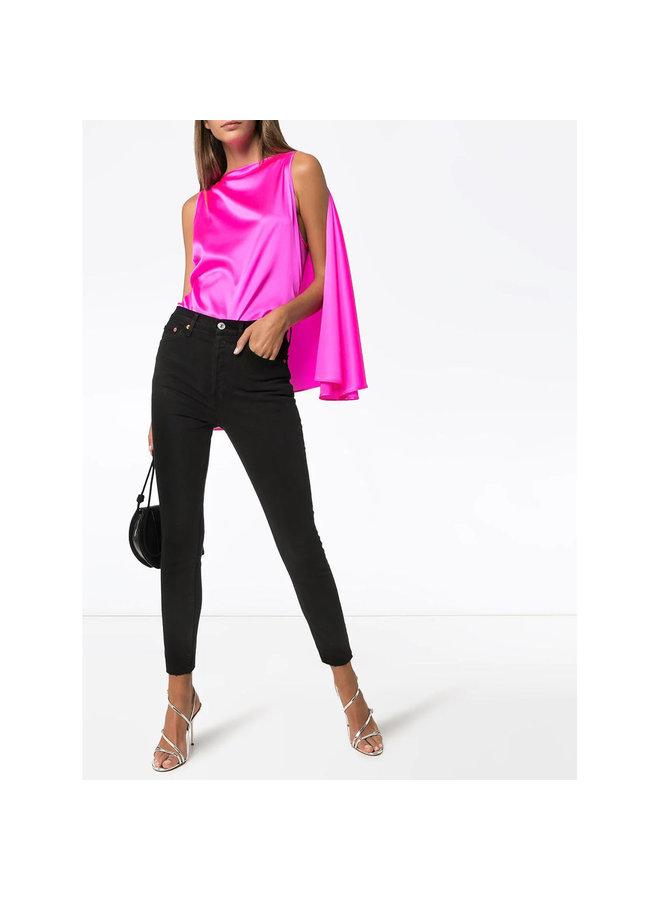 High Rise Skinny Jeans in Black
