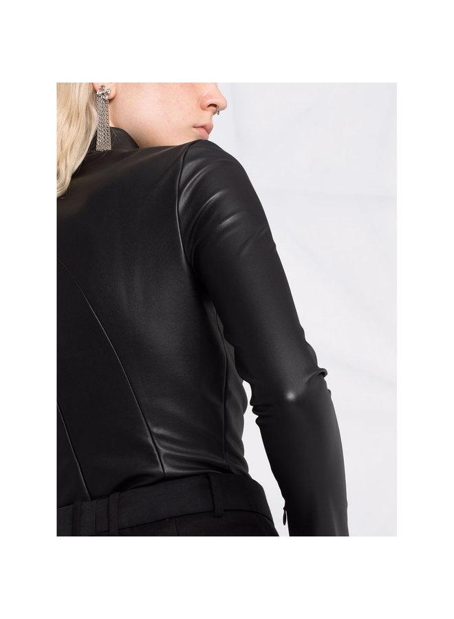 Long Sleeve Bodysuit in Black