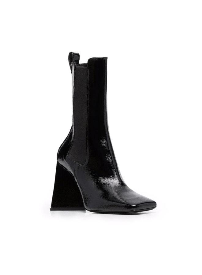 Devon Beatle High Heel Boots in Black