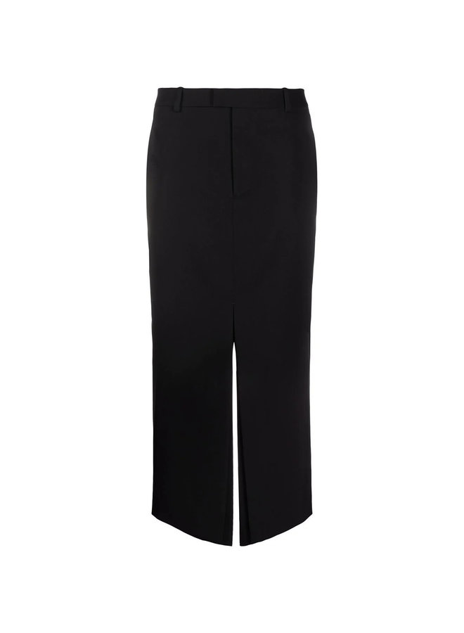 A-line Midi Skirt  in Black