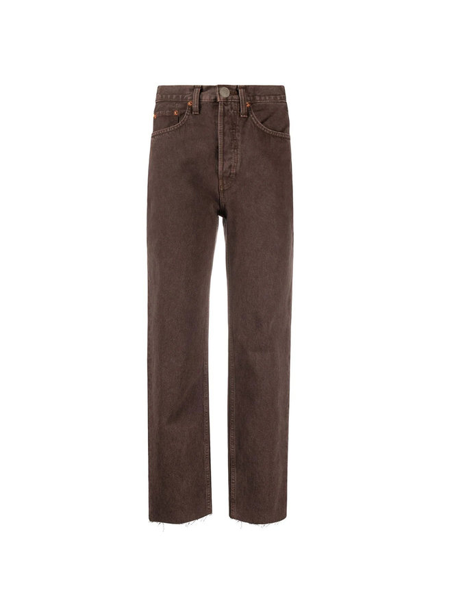 Stove Pipe Jeans in Washed Chocolate