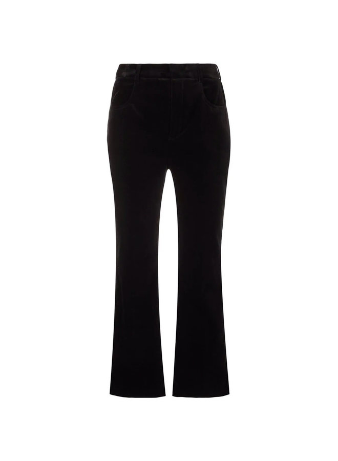 High Waisted Cropped Pants in Black