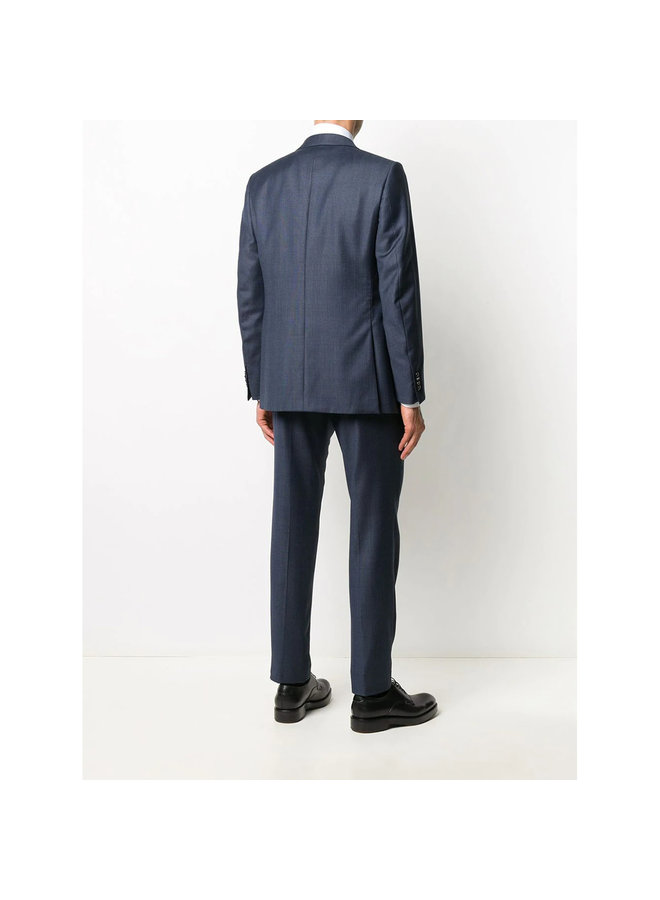 Single Breasted Two Piece Suit in Dark Blue