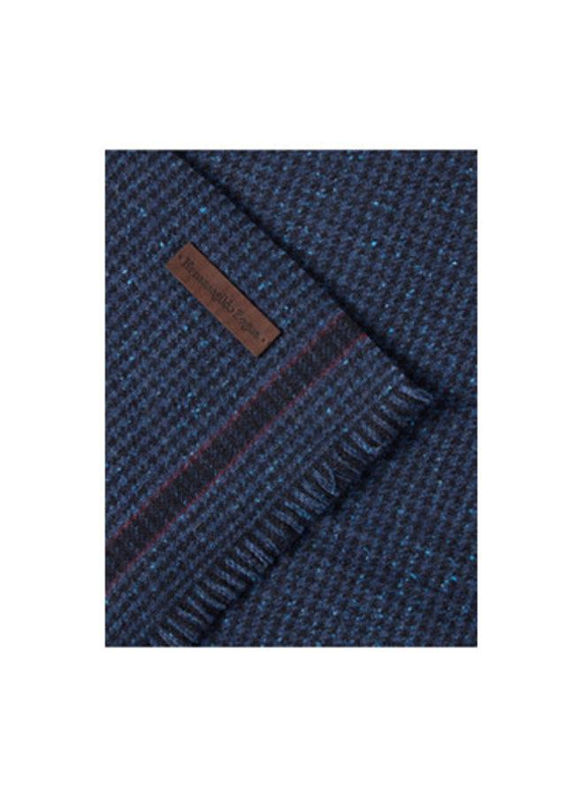 Hoodstooth-check Scarf in Dark Blue