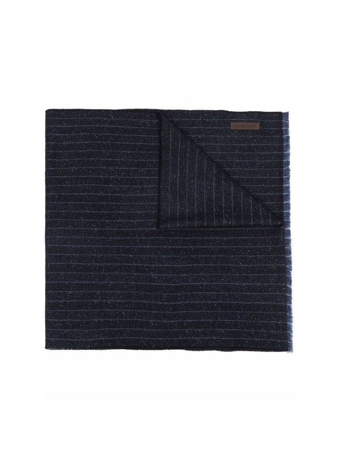 Stripped Scarf in Dark Blue