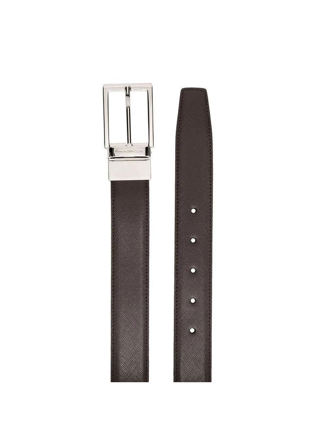 Engraved Buckle Belt in Brown/Black