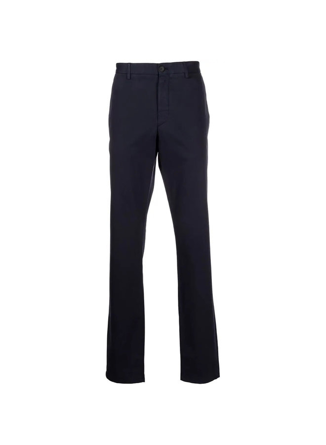 Casual Mid-Rise Straight Leg Pants in Blue