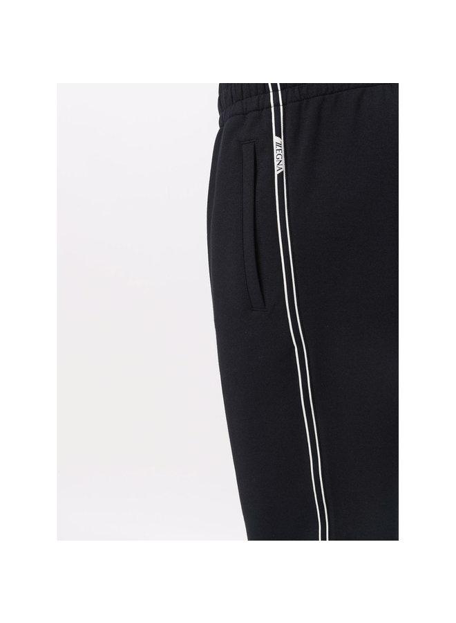 Elasticated Slim Fit Jogging Pants in Blue