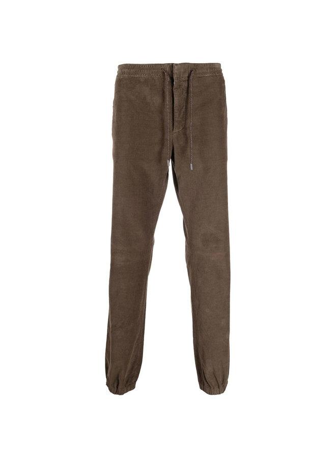 Drawstring Corduroy Jogger Pants