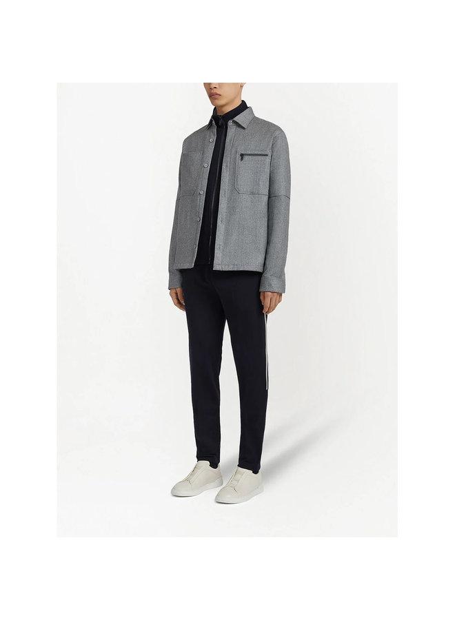 Long Sleeve Overshirt in Grey
