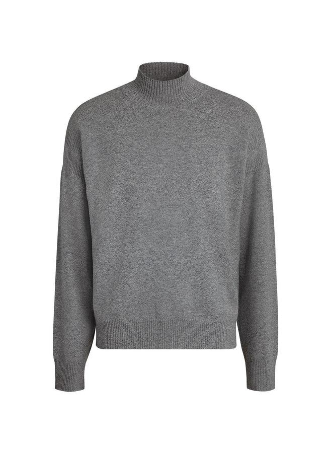 High Neck Jumper in Grey