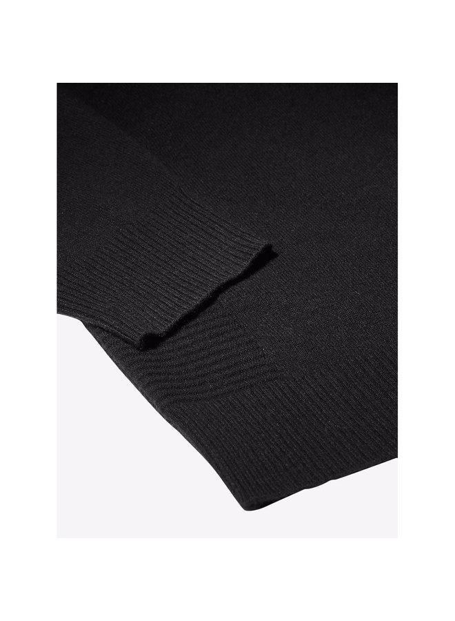 Mock Neck Jumper in Black