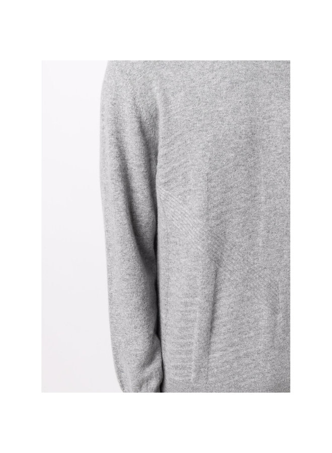 High Neck Jumper in Steel Grey