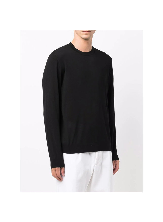 Crew Neck Sweater in Black