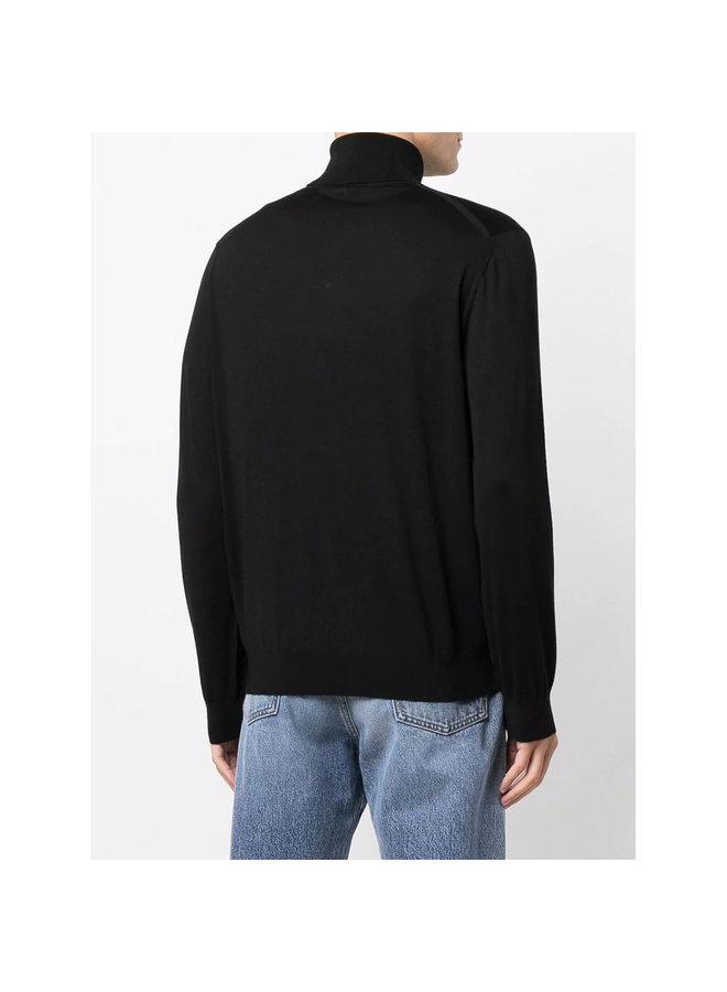 Turtleneck Sweater in  Black