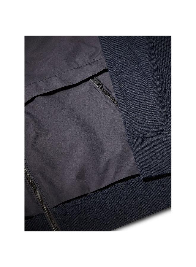 Hydro Wool Bomber Jacket in Navy