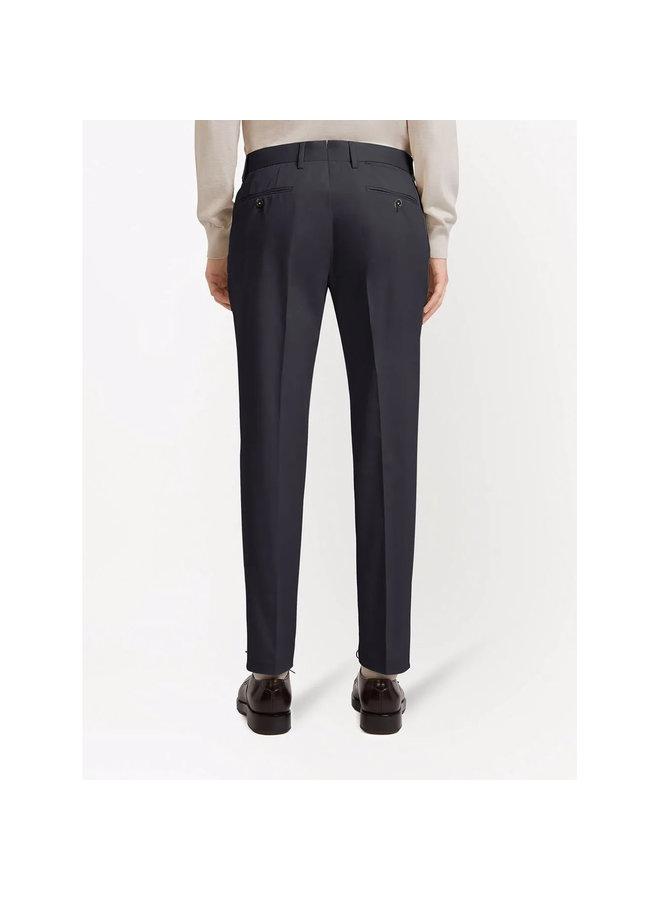 Slim Casual Pants in Dark Blue