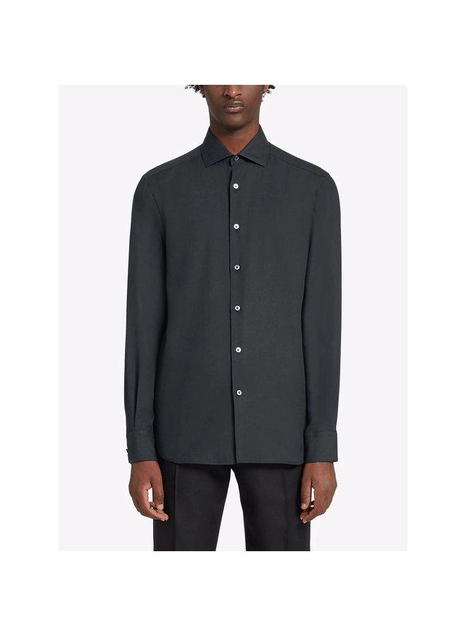 Spread Collar Shirt in Dark Green
