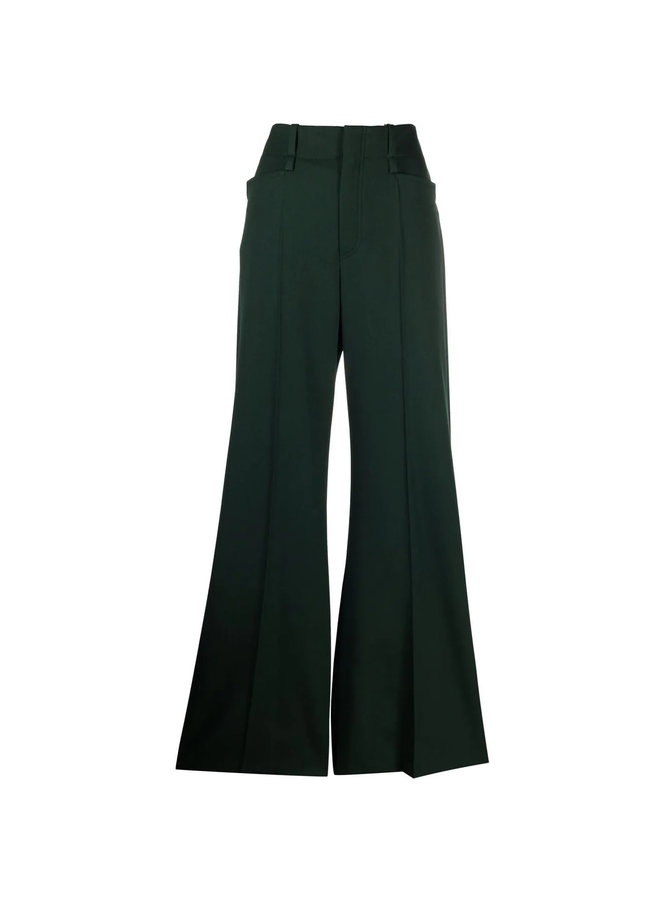 High Waisted Wide Leg Pants in Green