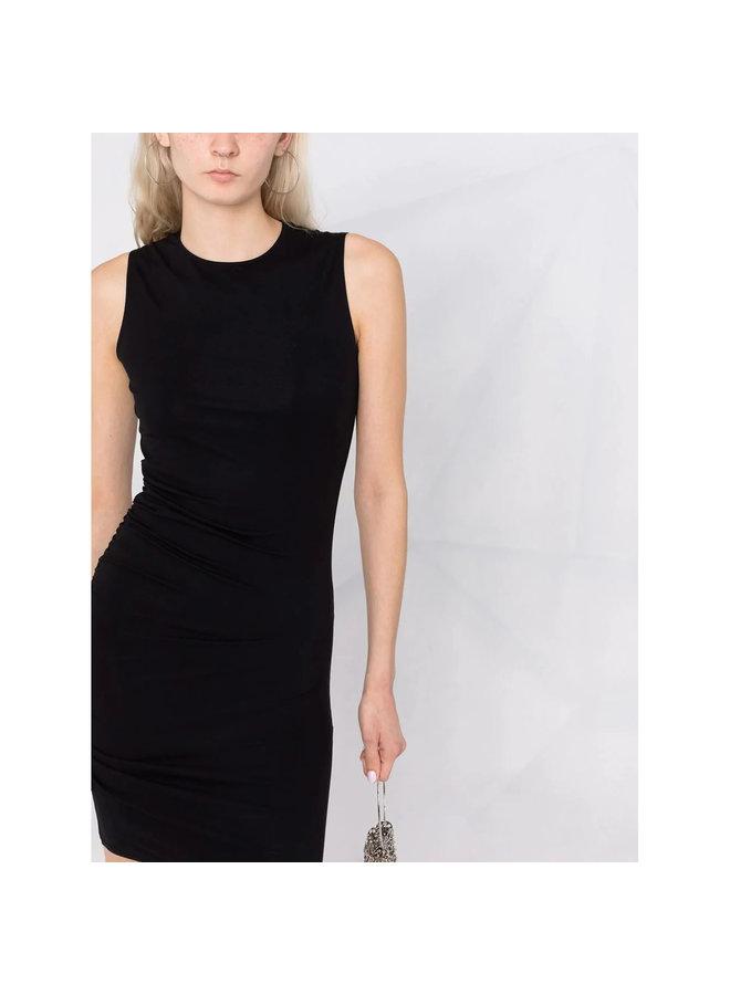 Mini Draped Dress in Black