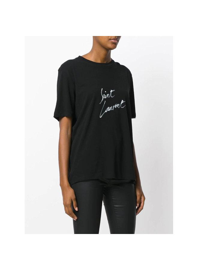 Logo Signature T-shirt in Black