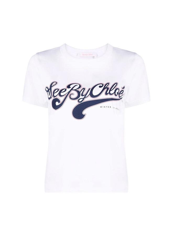 Logo Print T-Shirt in White