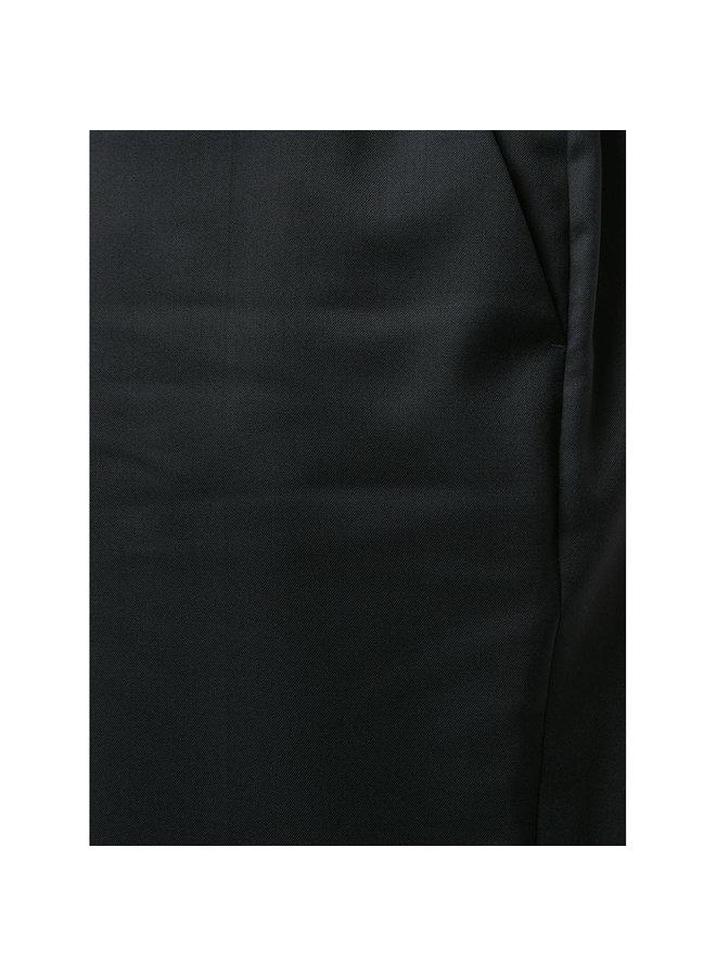 Mid Waist Skinny Pants in Black