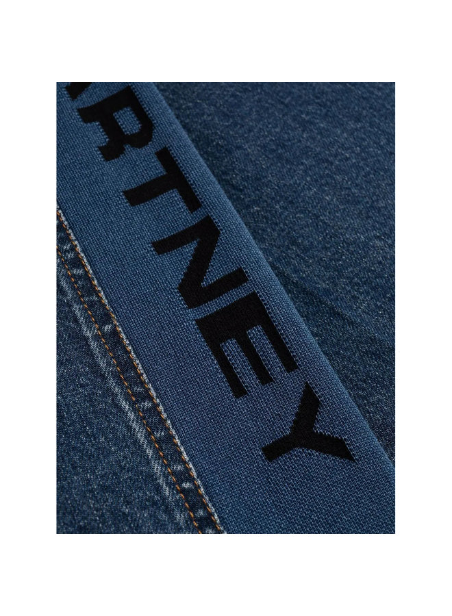 Logo Wide Leg Jeans in Dark Blue