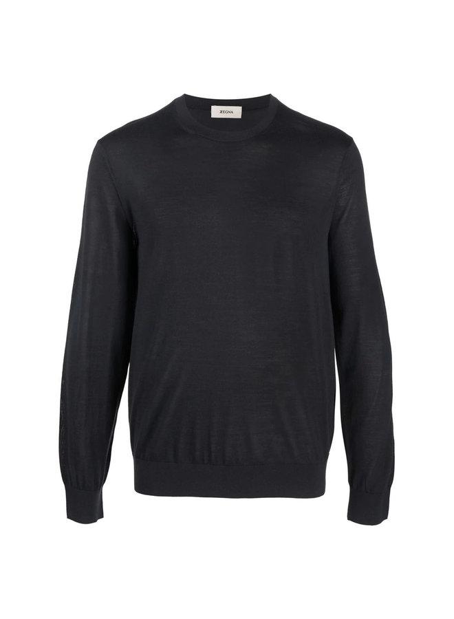 Crew Neck Sweaters in Grey