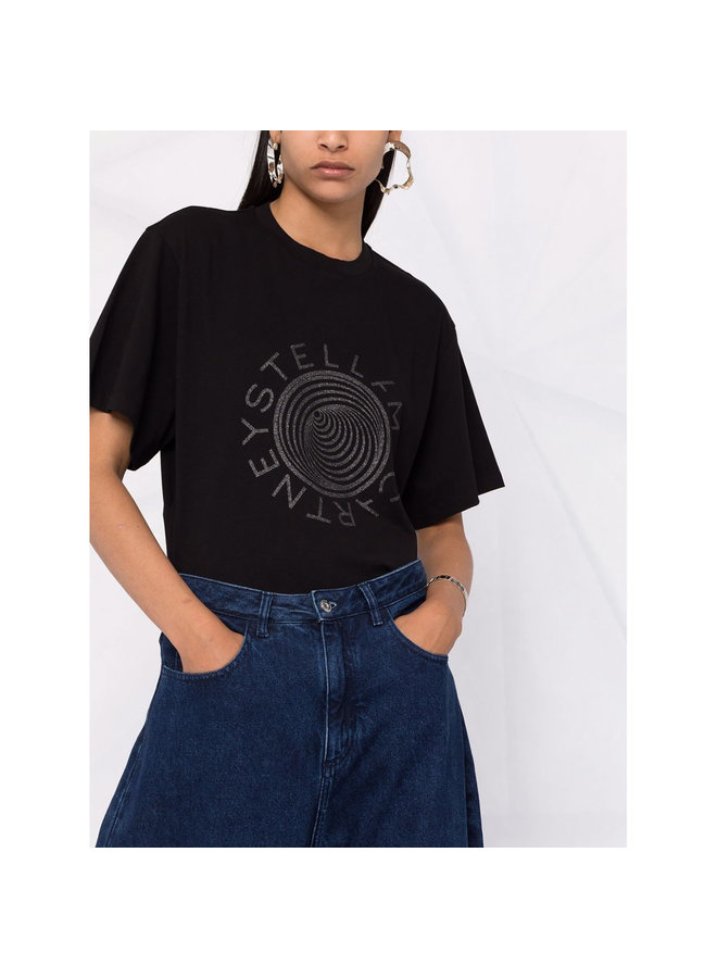 Logo Print T-shirt in Black