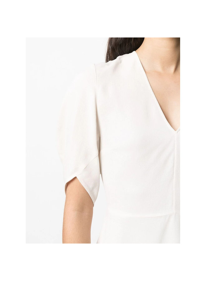Melody Short Sleeve Blouse in Off White