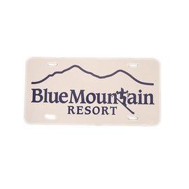 Blue 84 Blue Mtn License Plate
