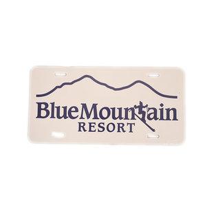 Blue Mtn License Plate