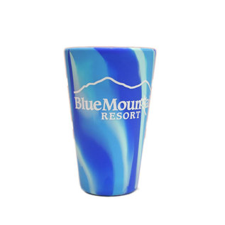 Silipint 16 oz Tie-dyed Blue Mtn Silicone Glass