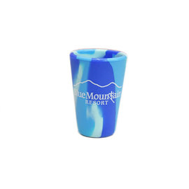 Silipint 1.5 oz Tie-dyed Blue Mtn Shot Glass