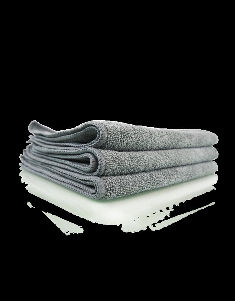 """Chemical Guys MIC35203 Workhorse Gray Professional Grade Microfiber Towel 16""""X16"""" (Metal) (3 Pack)"""