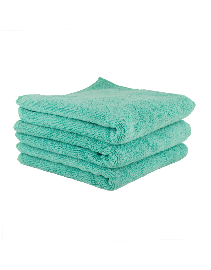 Chemical Guys MICMGREEN03 The Workhorse Towel Professional Grade Microfiber Towels, Green (3 Pack)