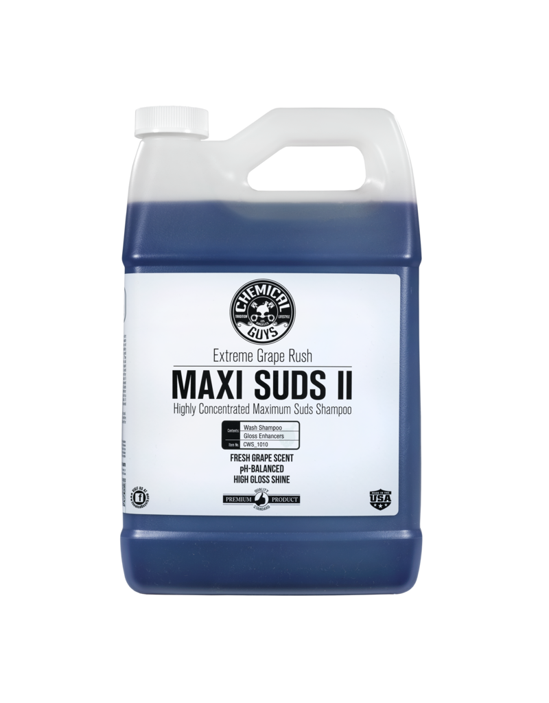Chemical Guys CWS_1010 Maxi-Suds II: Super Suds Shampoo- Grape Fusion- Superior Surface  Shampoo (1 Gal)