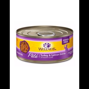 Wellness Turkey & Salmon Wet Cat Food 3.2oz can