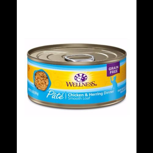 Wellness Chicken & Herring Wet Cat Food 3.2oz can