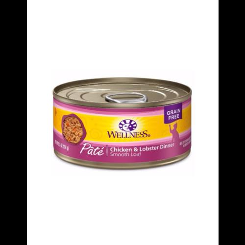 Wellness Chicken & Lobster Wet Cat Food 3.2oz can