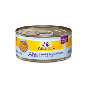 Wellness Beef & Salmon Wet Cat Food 3.2oz can - each